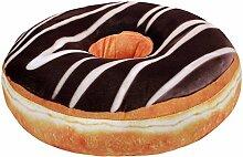 Donut Doughnut Kissen mit brauner Schokolade und