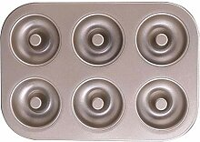 Donut-Form, antihaftbeschichtet, 6 Mulden,