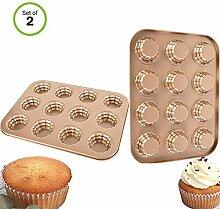 Donut Formen, 12 Hohlraum, Antihaft Backblech