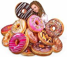 Donut Kissen Sortierung (24 Stk.) extra groß Ø