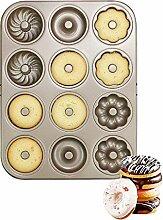 Donut Kohlenstoffstahl Formen, 6 Hohlraum +12