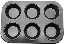 Donut Mold, 6-Cavity Kohlenstoffstahl Silikon