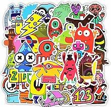 Doodle Aufkleber lustige kleine Monster Roboter