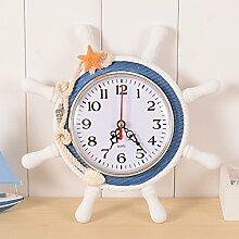 Doolland Wanduhr mediterranen Stil Anker Uhr