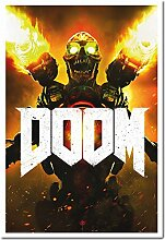 Doom 2016 Video Game Cover Poster Kork Pinnwand