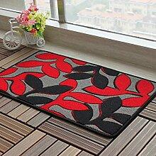 Door mats PRIDE S Dickes Suede Matratze Schlafzimmer Küche Eingang Wohnzimmer Bedside Mat Badezimmer Flur-Matten-Auflage (Farbe : H, größe : 60*90cm)