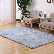 Door mats PRIDE S Feste Farbe Wohnzimmer Türmatten Schlafzimmer Teppich Nachttisch Matratze Anti-Rutsch Matte (Farbe : B, größe : 120*160cm)
