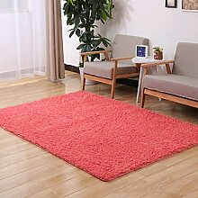 Door mats PRIDE S Feste Farbe Wohnzimmer Türmatten Schlafzimmer Teppich Nachttisch Matratze Anti-Rutsch Matte (Farbe : B, größe : 100*100cm)