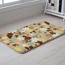 Door mats PRIDE S Langsam Rebound Badezimmer Matratze Türmatten Badezimmer Anti - Skid-Pads Badezimmer Schlafzimmer Wohnzimmer Fussmatten (farbe : Beige Akiba, größe : 40*60)