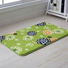 Door mats PRIDE S Langsam Rebound Badezimmer Matratze Türmatten Badezimmer Anti - Skid-Pads Badezimmer Schlafzimmer Wohnzimmer Fussmatten (farbe : Green Florid, größe : 50*80)