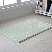 Door mats PRIDE S Langsam Rebound Badezimmer Matratze Türmatten Badezimmer Anti - Skid-Pads Badezimmer Schlafzimmer Wohnzimmer Fussmatten (farbe : Wheat-shaped Light Green, größe : 40*60)