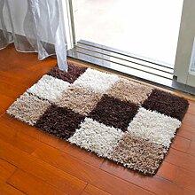 Door mats PRIDE S Matratze Türmatten Saugwirkung Matten Küche Schlafzimmer Haus Matten Bad Badezimmertür Badezimmermatte (farbe : E, größe : 60*90cm)