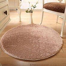 Door mats PRIDE S Solid Color Round Wohnzimmer Türmatten Schlafzimmer Teppich Matratze Matten Matten (Farbe : B, größe : 100cm)