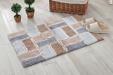 Door mats PRIDE S Superfine Faser Schlafzimmer Tür Matratze Bad Bad Weben dicke Matte (Farbe : Braun, größe : 45*70cm)