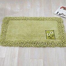 Door mats PRIDE S Wattepad Matratze Küche Wohnzimmer Badezimmer Badezimmer Pad Thick Absorbent absorbierende Matte (farbe : Patch Green, größe : 60*90cm)