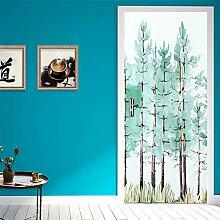 Door Mural 42D Door Sticker Baummuster 3D Tür