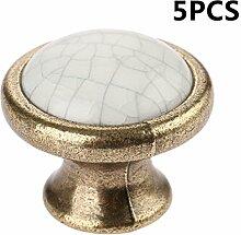 Dophee 5Pcs Keramik Knöpfe Schrankgriff Türgriffe Möbelgriff Griff Einzelloch Durchmesser: 37mm