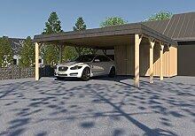 Doppel-Carport Walmdach ASSEN V 600x800 cm KVH Konstruktionsvollholz