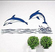 Doppel Delphin Wandaufkleber Wohnkultur Badezimmer