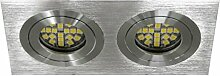 Doppel Einbaustrahler, ALU LED und Halogen