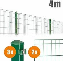 Doppel- Einstabgittermatten Zaun Komplettpaket