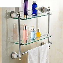 Doppel Frisiertisch/Handtuchhalter/Bad-Accessoires/Einzelglasregal WC-D