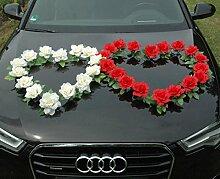 DOPPEL HERZ Auto Schmuck Braut Paar Rose Deko
