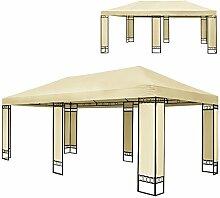 Doppel Luxus Pavillon 4x6m Metall Creme Partyzelt