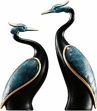 Doppel Pair Crane Design Ornamente Skulptur