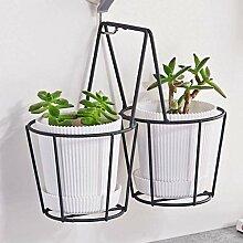 Doppel Pflanzer Kleiderbügel Korb für Balkon