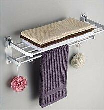 Doppel Platz Aluminium Handtuchhalter, Handtuchhalter, Bad Regale, Badezimmer Accessoires, 60 Cm