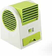 Doppel-USB-Batterie Dual-Use-Export Duft Mini Kälteschlafsaal Büro blattlos großer Wind kleines Ventilator , 2