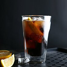 Doppel wand bier glas becher mousse eis tassen milch becher glas saft wiskey highball -Clear glass set 500ml
