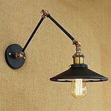 Doppelarm langen Arm Wandleuchte kreative Restaurant Schlafzimmer Bett Wand lampe Teleskop Wandleuchte, Armlänge 20 cm +20 cm