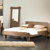 Doppelbett Akaziefarben Holz