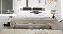Doppelbett aus Holz Molina, 140x200 cm, Akazie