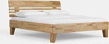 Doppelbett aus Kernbuche Massivholz geölt