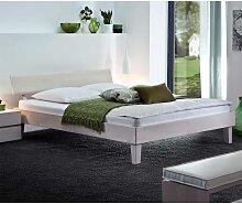 Doppelbett aus massiver Buche