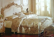 Doppelbett Bett 200x200 Schlafzimmer Antik StilStil Barock Vp7711K-01ACD