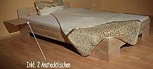 Doppelbett Ehebett Buche massiv Bett 200x200 für