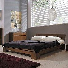 Doppelbett in Nussbaumfarben 180x200