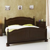 Doppelbett in Walnussfarben Klassisch antik