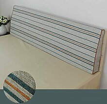 Doppelbett Kopf Dreieckige Kissen Kissen Kissen Lendenkissen Sofa Rückenlehne Soft Case ( größe : 150*50*10cm , stil : C )