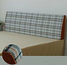 Doppelbett Kopf Dreieckige Kissen Kissen Kissen Lendenkissen Sofa Rückenlehne Soft Case ( größe : 150*50*10cm , stil : D )