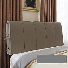 Doppelbett Kopfstütze / Leder Bett mit großer Rückenlehne / Bett Weiche Rückenlehne / Sofa Comfort Kissen / Nachttisch Kissen ( Farbe : C , größe : 200*60cm )
