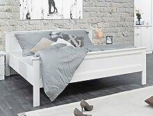 Doppelbett Landström 63 weiß 180x200 Ehebett Bett Bettgestell Schlafzimmer Landhausmöbel