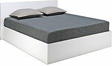 Doppelbett Madrid 140x200cm, Weiß