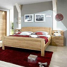 Doppelbett mit Bettkasten Eiche (3-teilig)