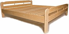 Doppelbett mit Lattenrost aus Kiefer massiv -