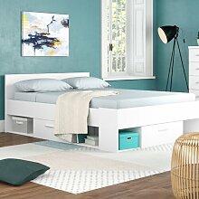 Doppelbett Moran mit Stauraum, 140 × 200 cm Ebern